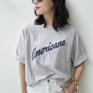 アパルトモンドゥーズィエムクラス(L'Appartement DEUXIEME CLASSE)のタグつき未使用【Americana/アメリカーナ】Half Sleeve T-s(カットソー(長袖/七分))