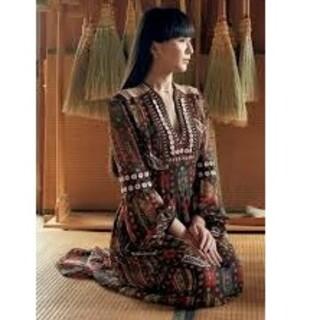 mame - mame 刺繍入りロングワンピース