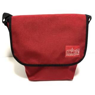 マンハッタンポーテージ(Manhattan Portage)のマンハッタンポーテージ メッセンジャーバッグ レッド S 赤 美品 ナイロン (メッセンジャーバッグ)