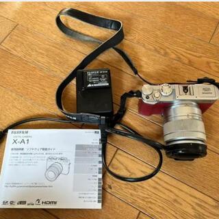 富士フイルム - レアなレッド Wi-Fiで写真転送 FUJIFILM X-A1 レンズキット