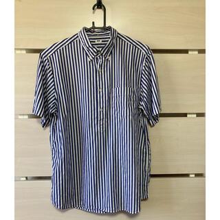 UNIQLO - ユニクロ 半袖シャツ(ストライプ)      Lサイズ