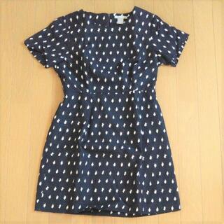 エイチアンドエム(H&M)のH&M シンプル ミニ ワンピースドレス 刺繍 送料込(ミニワンピース)