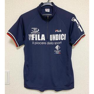 FILA - Tシャツ フィラ スポーツウェア 紺色