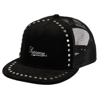 シュプリーム(Supreme)の新品 ブラック Supreme Studded Velvet 5-Panel(キャップ)