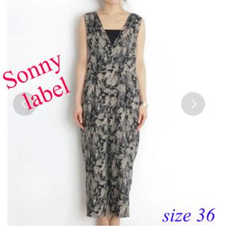 サニーレーベル(Sonny Label)のサニーレーベル オールインワン サロペット ボタニカルリーフ柄 size36(サロペット/オーバーオール)