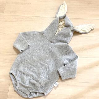 petit main - 【70cm】うさ耳ロンパース