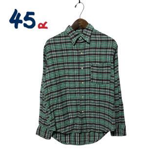 フォーティーファイブアールピーエム(45rpm)の【45rpm】チェックシャツ(シャツ/ブラウス(長袖/七分))