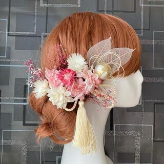 和婚・成人式に!スケルトンリーフの髪飾り 【匿名発送】