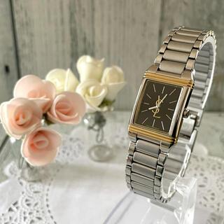 サンローラン(Saint Laurent)の【美品】Yves Saint Laurent  腕時計 レディース スクエア(腕時計)