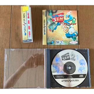 セガ(SEGA)のセガサターン アースワームジム2 タカラトミー Earthworm Jim 2(家庭用ゲームソフト)