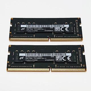 メモリ Micron 16GB (8Gx2) DDR4-2666V ''53