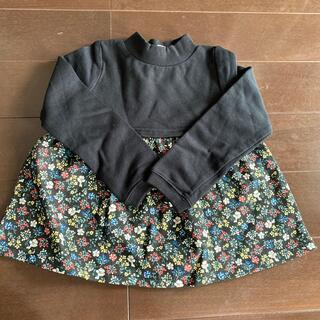 ニシマツヤ(西松屋)の新品未使用 チュニック トップス 100cm(Tシャツ/カットソー)