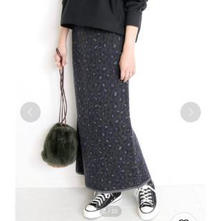 イエナスローブ(IENA SLOBE)のSLOBE IENA レオパードニットジャガードタイトスカート(ロングスカート)