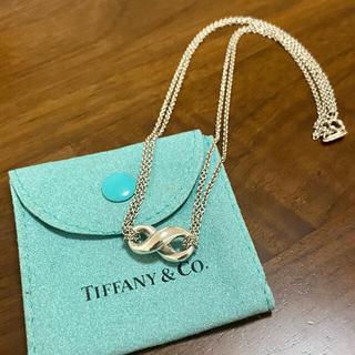 ティファニー(Tiffany & Co.)のティファニー ダブルチェーン フィギュアエイト ネックレス(ネックレス)