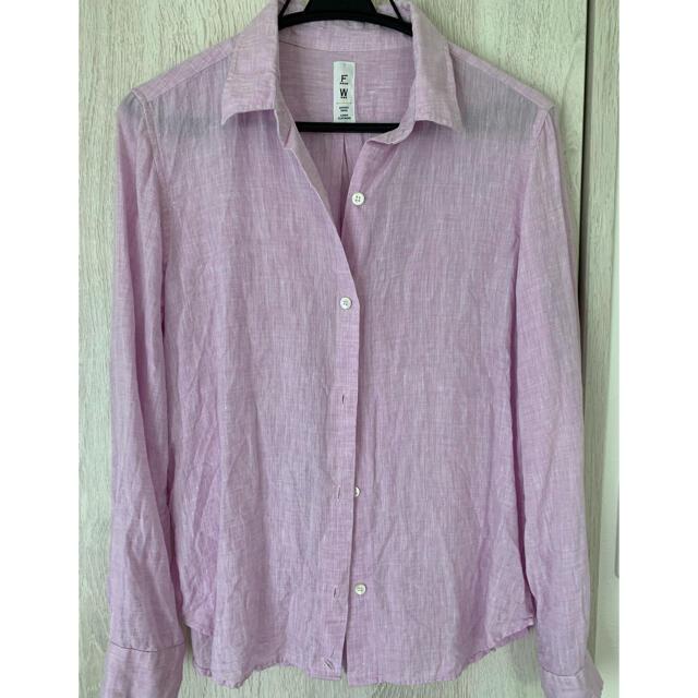 FRAMeWORK(フレームワーク)のフレームワーク リネンシャツ ピンクパープル レディースのトップス(シャツ/ブラウス(長袖/七分))の商品写真