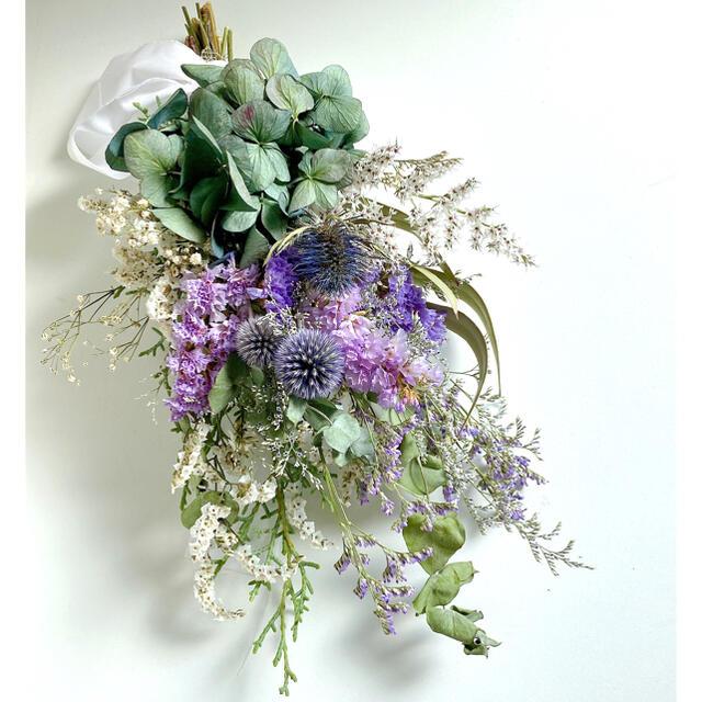 ドライフラワー スワッグ ブーケ purple&Blue  ハンドメイドのフラワー/ガーデン(ドライフラワー)の商品写真