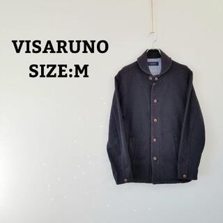 VISARUNO ビサルノ メンズ 長袖 ジャケット 紺 ネイビー 春 秋(シャツ)