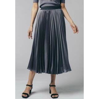 ダブルスタンダードクロージング(DOUBLE STANDARD CLOTHING)のダブスタ❣️割引❣️ Sov./サテンエンボス加工プリーツスカート(ロングスカート)