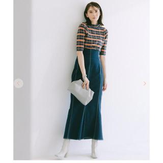 COCO DEAL - 配色ステッチハイウエストマーメイドスカート