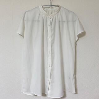 GU - GU エアリーバンドカラーシャツ(半袖)