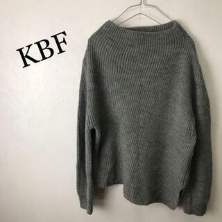 ケービーエフ(KBF)のKBF ケービーエフ アシンメトリー ウール ニット セーター(ニット/セーター)