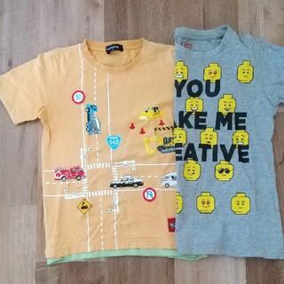 kladskap - 半袖Tシャツ2枚セット 130 Kladskap 働く車 オレンジ ユニクロ