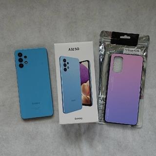 Galaxy - Galaxy A32 5G オーサムブルー美品 &背面強化ガラススマホケース