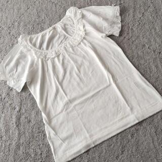 ピンクハウス(PINK HOUSE)の未使用☆ピンクハウス☆サテンリボン/ローン使いカットソー(Tシャツ(半袖/袖なし))