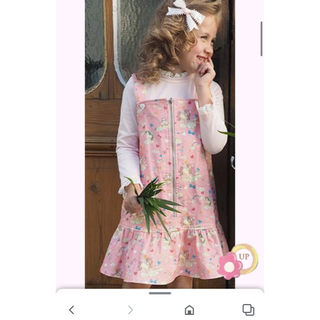 Shirley Temple - 新品タグつき シャーリーテンプル ユニコーン ジャンパースカート  110