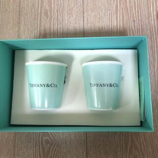 Tiffany & Co. - TIFFANY & Co】ボーンチャイナ ペーパー カップ 2個セット