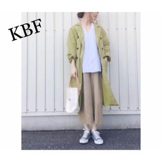 ケービーエフ(KBF)の美品 KBF ナイロンエアウォッシュコート ロング コート ナイロンコート(ロングコート)