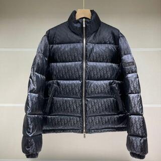 ディオール(Dior)のブラック【 ディオール】 オブリーク プリント ダウンジャケット(テーラードジャケット)