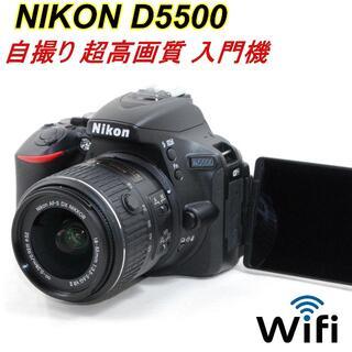 Nikon - カメラバッグ付★超高画質★Wi-Fi&自撮り★ニコン D5500