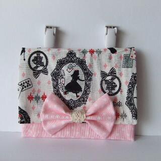 移動ポケット 女の子 白×ピンク リボン(外出用品)