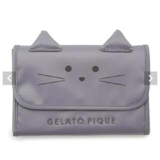 gelato pique - gelatopique ジェラートピケ 母子手帳ケース キャット L グレー