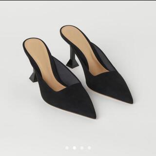 エイチアンドエム(H&M)のH&M  ポインテッドトゥミュール 新品 ブラック(ミュール)