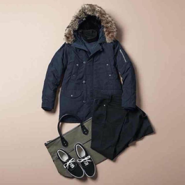 GU(ジーユー)の【新品】ミリタリーハーフコート モッズコート アウター メンズのジャケット/アウター(ダウンジャケット)の商品写真