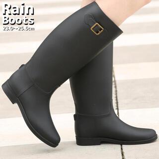 本日限定値下げ!未使用 レインブーツ 23.5cm ブラック(レインブーツ/長靴)