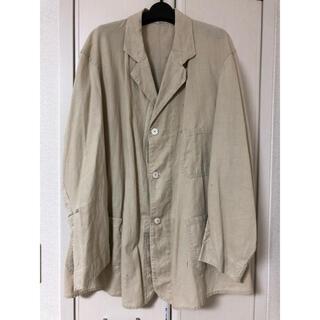 コモリ(COMOLI)のフレンチワークジャケット  30s  チェンジボタン リネン(カバーオール)