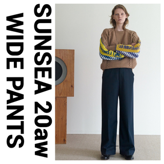 SUNSEA - SUNSEA 20aw N.M THICKENED WIDE PANTS ワイド