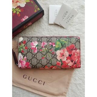 Gucci - GUCCI グッチ GG Blooms Supreme ジップ 長財布