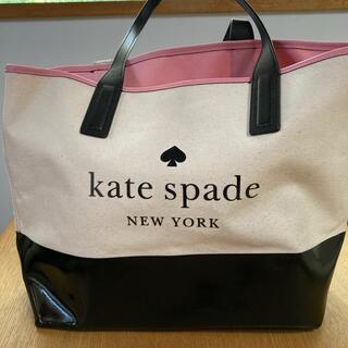 kate spade new york - ケイトスペード キャンバスレザートートバッグ
