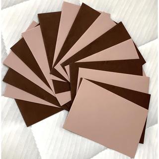 メッセージカード用ミニ封筒 ピンク&ブラウン(カード/レター/ラッピング)