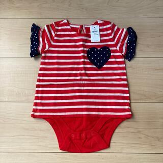 ベビーギャップ(babyGAP)の新品 ベビーギャップ 半袖Tシャツ 80 女の子 ハート ボーダー(Tシャツ)