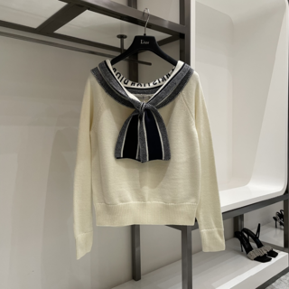 ディオール(Dior)のDIOR セーラーカラータイドセーター(ニット/セーター)