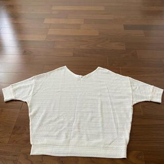 サンカンシオン(3can4on)の白のトップス 美品(ニット/セーター)