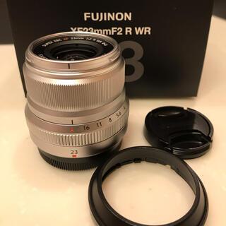 富士フイルム - 【美品】XF23mm F2 R WR シルバー フジフイルム 富士 単焦点レンズ