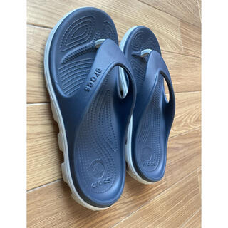 crocs - クロックス ビーチサンダル 紺色 25cm M7/W9 ユニセックス