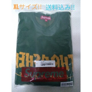 Supreme - Supreme Thrasher Sweater Green XLサイズ