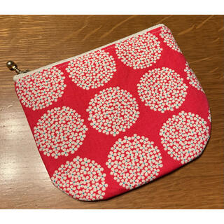 flower - 【handmade】ぺったんこミニポーチ カードケース フラットケース